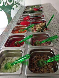 Barra de ensaladas a la carta y personalizadas #green #salad #veracruz