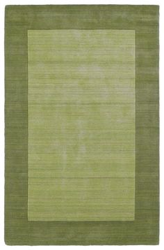 Pinned from RugLots - Kaleen // Regency Regency Celery Solid Solid Border Plain Rug Kaleen (7000-33)