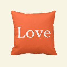 Rest your head on one of Zazzle's Bedroom decorative & custom throw pillows. Favorite Color, My Favorite Things, Orange Pillows, Orange You Glad, Orange Things, Tango, Decorative Throw Pillows, Hue, Goodies