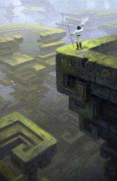 """fantasy-art-engine: """"Bismuth Ruins by Kazunori Aruga """""""