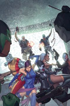 X-Men vs. assassins ~ art by Jorge Molina