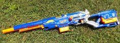 Nerf N Strike Long Strike CS-6 w/Extension Clips Sniper Rifle Soft Dart Gun #Nerf