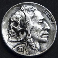 ROBERT MORRIS HOBO NICKEL - LOOMING THOUGHTS OF DEATH IN THE BACK OF HIS HEAD - 1937 BUFFALO NICKEL