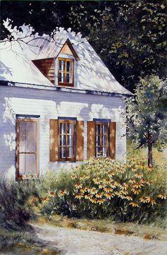 Gaétane Lessard, watercolor