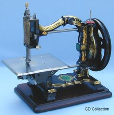 ❤✄◡ً✄❤  The earliest Challenge models - circa 1872 - were manufactured by the Royal Sewing Machine Co. exclusively for Joseph Harris (both of Birmingham, UK). These attractive lockstitch machines incorporate Shakespear & Illeston's patented shuttle transport system. - http://www.dincum.com/library/lib_harris_challenge.html