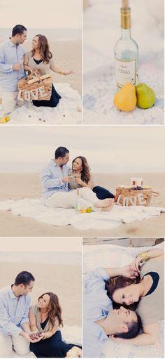 Beach Picnic Engagement