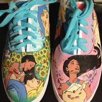 Custom Hand-Painted Shoes: Disney Pocahontas