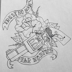 Sketch, tattoo