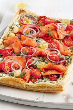 Reb Lobster, Savory Tart, Appetizer Dips, Quiches, Fish And Seafood, Finger Foods, Mozzarella, Vegetable Pizza, Family Meals