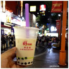 Bubble Milk Tea - a must try in taipei. It's a local favorite. Others like it with fruit flavors or chocolate but I prefer it plain. Just black tea, milk and pearls.