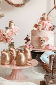 Fall in love with this beautiful Cinderella-themed birthday party! The golden mice and birthday cake are gorgeous!t! See more party ideas and share yours at CatchMyParty.com #partyideas #cinderella #cinderellaparty #princess #princessparty #girlbirthdayparty #partyfood