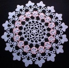 Tatted Pansy Pattern | Corded Pansy Doily