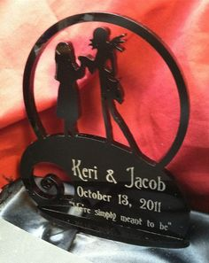 NBX Nightmare Before Christmas Cake Topper Personalized