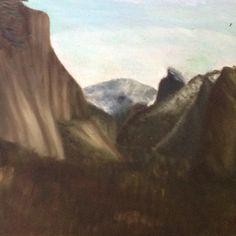 My painting of Yosemite