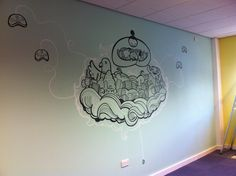 Sumo Digital Office Murals by Geo Law, via Behance
