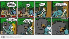 If yo see a bear, play dead