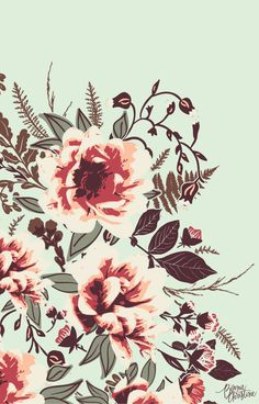Wild Posy Design from the 'Forest Floor' Design Collection | going home to roost