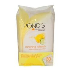 Ponds Ponds Wet Cleansing Towelettes Morning Refresh Towelettes by Pond's. $7.71. Ideal for all skin types.. Leaves skin perfectly clean and make-up free.. Ponds wet cleansing towelettes, morning refresh with citrus and cucumber Dermatologist tested.. Skin care...