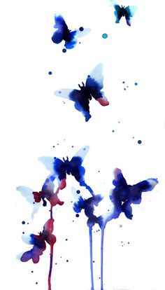 Butterflies! Colorful splashes of paint sprinkled on this paper, done so freely like the butterfly can fly in nature, no matter to dribbles or running of the ink, it still says how fragile and swift the creature appears and is gone in a blink. Joyce. P