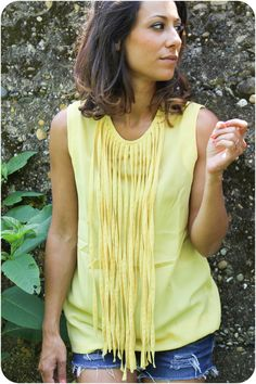 Arrivage sur l'e-shop ! #franges #YellowTop #Summer15 #Mode #Outfit #NewStuff #OMG