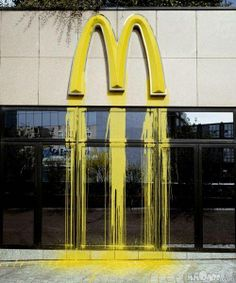 15 Funny Art Crimes – Public Graffitis That Will Make You Laugh... Work's of Art or Crimes? You decide, click to see the rest.  #mcdonalds #food #fastfood #lunch #dinner #breakfast #drivethru #graffiti #artist #downtown #painting #art #public #street #sweet #cool #awesome #fun #funny #unique #howaboutthat #daily #mystic