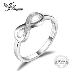 Deal Today $5.39, Buy JewelryPalace Infinity Forever Love Anniversary Cubic Zirconia Finger Ring For Women Genuine 925 Sterling Silver Fashion Jewelry