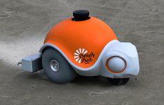 Disney's BeachBot creates sand art