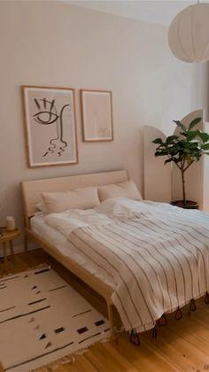Room Design Bedroom, Room Ideas Bedroom, Home Room Design, Home Decor Bedroom, Wooden Furniture Bedroom, Wall Colors For Bedroom, Bedroom Wood Floor, Tan Bedroom, White Wall Bedroom