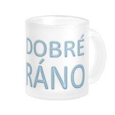 Dobré ráno mug - baby blue