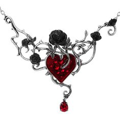 English Pewter and Crystals Bed of Blood-roses Necklace ($22) ❤ liked on Polyvore featuring jewelry, necklaces, rosette necklace, pewter necklace, rose jewellery, rose necklace and pewter jewelry