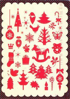 New Year postcard (Russia) by katya., via Flickr