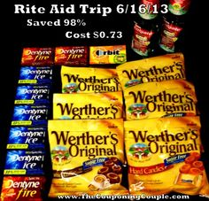 Rite Aid Trip on 6-16 Free gum, candy, + mouthwash - The Couponing Couple