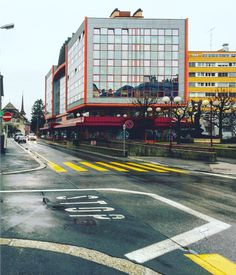 #architecture #hotel #glass #lelocle #neuchatel #switzerland