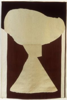 """Robert Motherwell, """"after In Brown and White,"""" tapestry weave, 1974-1989"""