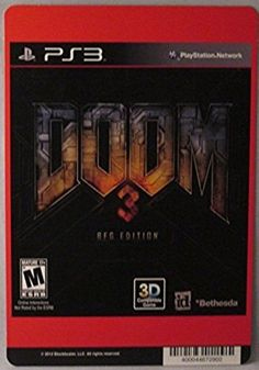 Backer Card For: Doom 3 - PS3 - (Not The Video Game) - #Collectible #Art