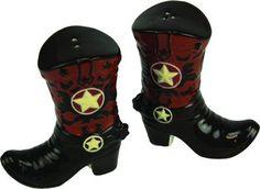 Salt & Pepper Shaker Set - Cowboy Boots