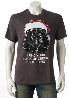 Darth Vader - Lack of Christmas Cheer Tee - on sale for $7.00! http://rstyle.me/n/tmj3rnyg6