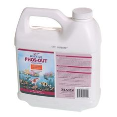 PondCare 155D Phos Out, 64-Ounce by PondCare. $36.49. Treats 7,568 U.S Gallons (28,648 L). One treatment will remove 1-1/2 ppm phosphate. Removes excess phosphate that clouds pond water. Phosphate remover. Helps restore and maintain the natural balance of pond water. Phosphate can enter ponds through tap water, fish food and other sources. Excess phosphate can cloud pond water. PHOS-OUT binds with inorganic phosphate, making the phosphate unavailable as a nutrient. One treatment...