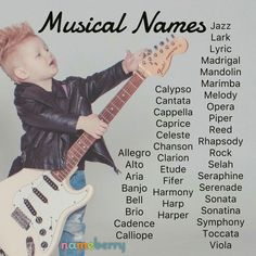 Modern Baby Names, Baby Girl Names Unique, Cute Baby Names, Pretty Names, Unique Names, Music Baby Names, Boy Names, Baby Names And Meanings, Names With Meaning