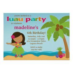 Luau Birthday Party Invitation