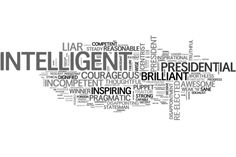 Word Cloud:  Readers describe Obama in one word