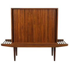 Walnut Bench or Cabinet by Milo Baughman | See more antique and modern Cabinets at http://www.1stdibs.com/furniture/storage-case-pieces/cabinets