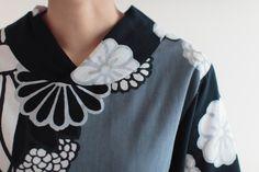 Nagi Jiban Kimono Sleeve Tops Chizimi Cotton Night Chrysanthemum : SOU • SOU US Online Store
