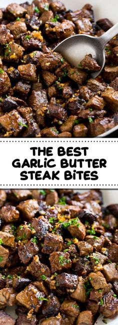 The Best Garlic Butter Steak Bites - foodndrink.world The Best Garlic Butter Steak Bites - foodndrink. Minute Steak Recipes, Steak Dinner Recipes, Sirloin Steak Recipes, Sirloin Tip Steak, Easy Steak Recipes, Healthy Recipes, Meat Recipes, Garlic Recipes, Healthy Steak Dinners