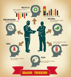 Business People with Business infographics design vector 04