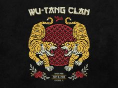 Wu-Tang Clan by Vinicius Gut on Dribbble Wutang, Wu Tang Tattoo, Wu Tang Clan Logo, Tiger Artwork, Flash Design, Chinese Astrology, Hip Hop Art, Ex Machina, Sketch Inspiration