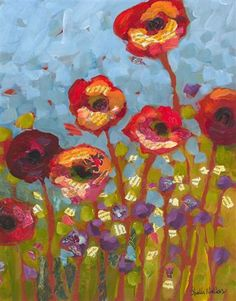 Shelli Walters Red Flowers No 1 artists-online