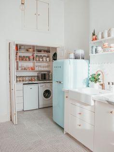 Our kitchen renovation. – Kate La Vie – Our kitchen renovation. Diy Kitchen, Kitchen Decor, Decorating Kitchen, Kitchen Small, Smeg Kitchen, Decorating Ideas, Kitchen Paint, Kitchen Storage, Kitchen Ideas