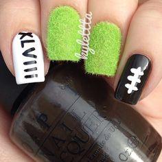 superbowl by kylettta  #nail #nails #nailart