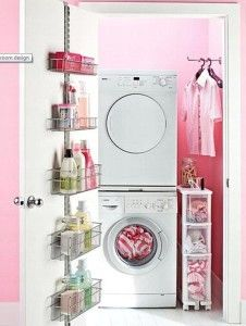 laundry room small pink